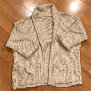 Cream Weaved Cardigan